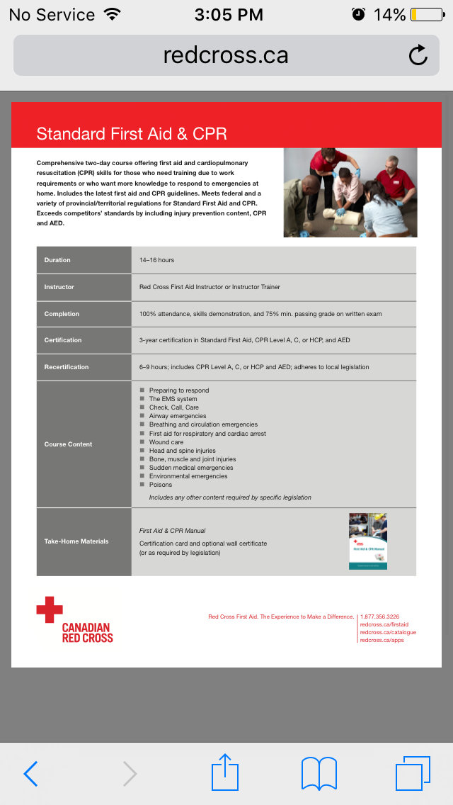 Red Cross Standard First Aid With Cpr C And Aed Training Alberni