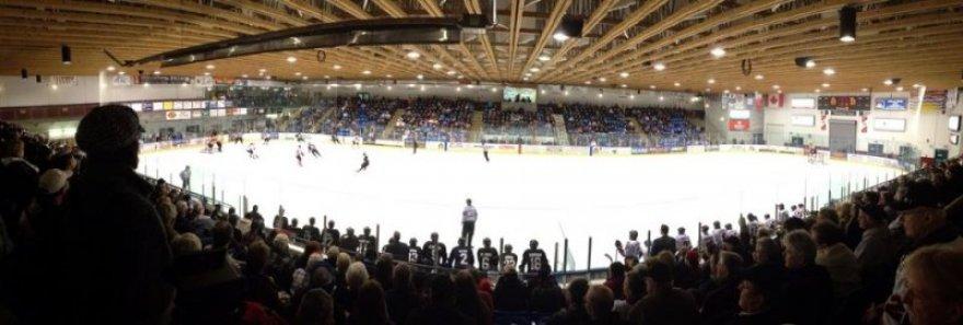 View of an Alberni Bulldogs game