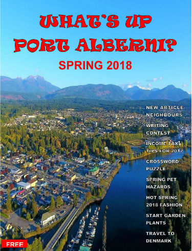 What's Up Port Alberni Magnize Cover Spring 2018 Marigold Productions Anne Pley